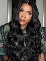 Women Human Hair Lace Wig Brazilian Human Hair 360 Frontal 150% Density With Baby Hair Loose Wave Wig Black Black Short Medium Length Long