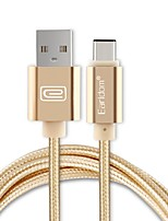 earldom usb 2.0 connect cable usb 2.0 to usb 2.0 type c соединительный кабель male - male 1.0m (3ft)