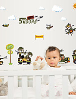 Animaux Stickers muraux Autocollants avion Autocollants muraux décoratifs Matériel Décoration d'intérieur Calque Mural