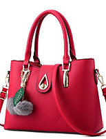 Women Bags All Seasons PU Tote Zipper for Casual Sillver Gray Blushing Pink Red Black Blue