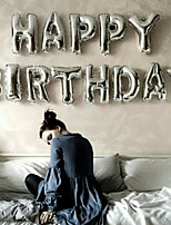 Silver 32inch Alphabet Letter Balloons Beter Gifts® DIY Christmas Decoration