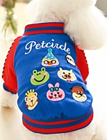 Dog Vest Dog Clothes Casual/Daily British Blue Red
