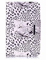 Leopard Pattern Card Holder Wallet with Stand Flip Magnetic PU Leather Case for Samsung Galaxy Tab E 8.0 T377 T377V 8.0 inch Tablet PC