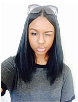 Women Human Hair Lace Wig Brazilian Human Hair 360 Frontal 150% Density With Baby Hair Straight Wig Black Black Short Medium Length Long