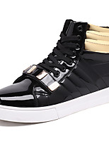 Men's Shoes PU Spring Fall Comfort Sneakers Magic Tape Lace-up For Casual Outdoor Black White