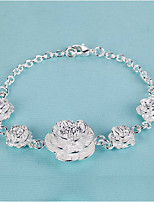 Women's Chain Bracelet Fashion Elegant Silver Flower Jewelry For Wedding Party
