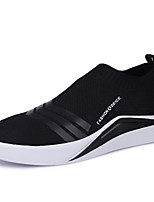 Men's Shoes Rubber Spring Fall Comfort Sneakers For Outdoor Black/White Black