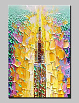 Hand-Painted Abstract Vertical,Abstract Modern 1pc Canvas Oil Painting For Home Decoration