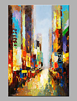Hand-Painted Abstract Vertical,Modern 1 pc Canvas Oil Painting For Home Decoration
