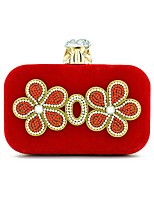 Women Bags All Seasons Suede Evening Bag Embroidery for Wedding Formal Blue Black Red Purple Fuchsia