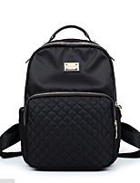 Women Bags All Seasons Nylon Shoulder Bag Zipper for Casual Black