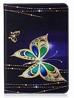 Schmetterlingsmuster-Kartenhaltermappe mit Standplatz schlagen magnetischen PU-ledernen Kasten für Samsung-Galaxie Vorsprung s3 wifi / lte