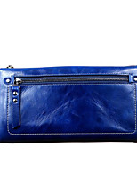 Women Bags Cowhide Wallet Zipper for Event/Party Formal All Seasons Black Dark Blue Brown