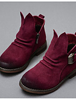 Girls' Shoes Suede Fall Winter Snow Boots Boots For Casual Burgundy Camel Black