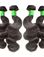 Unprocessed Indian Natural Color Hair Weaves Body Wave Hair Extensions Four-piece Suit Black