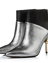 Women's Shoes Nappa Leather Fall Winter Fashion Boots Boots Booties/Ankle Boots For Casual Party & Evening Blue Silver Gold