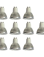 10pcs 4W GU10 LED Spotlight 4 leds High Power LED Dimmable White 360lm 6000K 110-120V