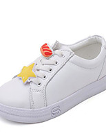 Girls' Shoes Cowhide Spring Fall Comfort Sneakers For Casual Red Yellow