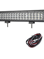 162W 16200LM 6000K 3-Rows LED Work Light Cool White Spot Offroad Driving Light for Car/Boat/Headlight IP68 9-32V  2m 1-To-1 Wiring Harness Kit