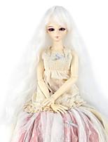 Femme Perruque Synthétique Sans bonnet Long Très Frisé Blanc Doll perruque Perruque Déguisement