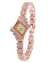 Жен. Модные часы Часы-браслет Кварцевый сплав Группа Золотистый