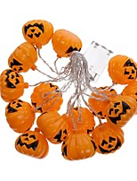 1set Halloween Pumpkin String Led Light Bar16 Lamp Holder 2.5M  white Colorful 3 AA Battery powered(not include Battery