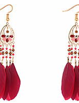 Women's Drop Earrings Acrylic Tassel Fashion Feather Alloy Jewelry For Party Gift Daily Ceremony Holiday