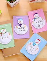 1 PC Snowman Pattern Self-Stick Notes