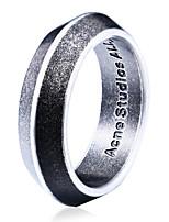 Per uomo Fedine Di tendenza Personalizzato Acciaio al titanio Circolare Gioielli Gioielli Per Quotidiano Casual