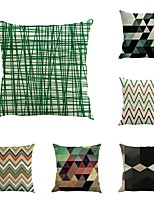 Set Of 6 Novelty Geometry Stripe Printing 45*45Cm Pillow Case