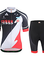 Cycling Jersey with Shorts Men's Short Sleeves Bike Clothing Suits Lightweight Terylene LYCRA® Letter & Number Summer Cycling/Bike Outdoor