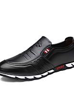 Hombre Zapatos Cuero Primavera Otoño Confort Zapatos de taco bajo y Slip-On Para Casual Negro Marrón Azul