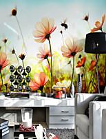 Motif 3D Fleur Fond d'écran pour la maison Rustique Revêtement , Toile Matériel adhésif requis fond d'écran , Couvre Mur Chambre