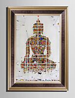 Pessoas Abstracto Fantasia Quadros Emoldurados Conjunto Emoldurado Arte de Parede,PVC Material com frame For Decoração para casa Arte
