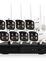 yanse® 1.3mp 8ch sans fil nvr kits 960p étanche ir vision nocturne wifi caméra ip système de sécurité