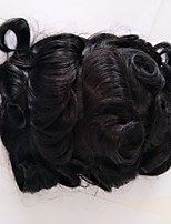 Natural Hairline Replacement Systems Swiss Lace with npu Natural Color Men Toupee Hairpiece.