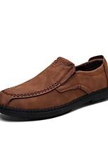 Homme Chaussures Similicuir Printemps Automne Confort Mocassins et Chaussons+D6148 Combinaison Pour Décontracté Noir Jaune Brun Foncé