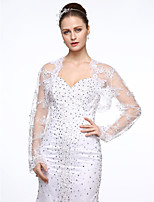 Tulle Wedding Party / Evening Women's Wrap With Applique Beading Shrugs