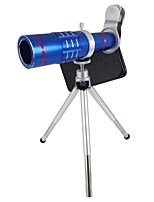 Orsda® Upgraded Universal HD 18x Zoom Telephoto Telescope Sets Clip-on Camera Lens Kits with Tripod for Smartphones(Blue)