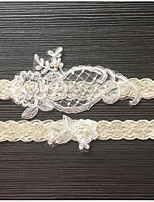 Garter Elastic Lace Imitation Pearl Lace Wedding Accessories Beautiful