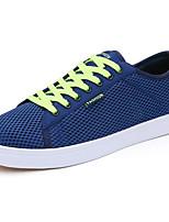 Hombre Zapatos Malla respirante Primavera Otoño Suelas con luz Zapatillas de deporte Para Casual Azul Oscuro Gris Azul Real