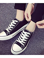 Women's Shoes PU Canvas Spring Fall Comfort Sneakers For Casual Outdoor Blue Black White