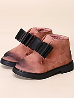 Girls' Shoes Leatherette Winter Comfort Boots Booties/Ankle Boots For Casual Blushing Pink Red Black