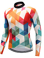 cheap -FUALRNY® Cycling Jersey Men's Long Sleeves Bike Jersey Winter Bike Wear High Elasticity Mountain Cycling Road Cycling Cycling Cycling /