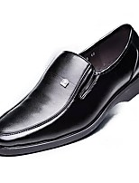 Men's Shoes PU Spring Fall Formal Shoes Loafers & Slip-Ons For Casual Brown Black