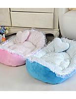 Dog Bed Pet Mats & Pads Polka Dot Blushing Pink Blue