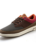 Men's Shoes PU Spring Fall Comfort Sneakers For Casual Outdoor Blue Brown Coffee