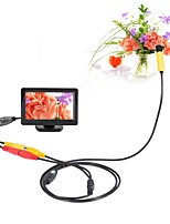 10mm Dia AV Endoscope 5V 1m Cable Night Vision Inspection Borescope Camera Snake Video Cam with 4.3 inch TFT Color Monitor