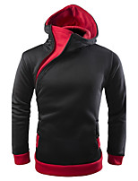 Men's Daily Going out Bohemian Style Casual Leisure Casual/Sporty Hoodie Color Block Hooded Hoodies Micro-elastic Cotton Long Sleeve
