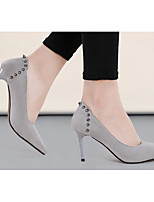 Women's Shoes Nubuck leather Spring Fall Basic Pump Heels For Casual Burgundy Gray Black